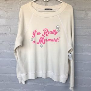 Wildfox I'm really a mermaid sweatshirt size S